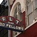 different angle on odd fellows neon sign