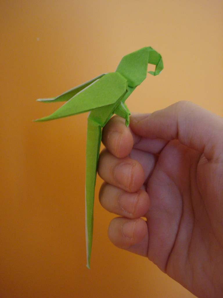 Origami Macaw Parrot Sunset92 Tags Bird By Paper Manuel Folding