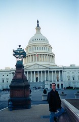 Tim in front of the U.S. Capitol. (11/1998)