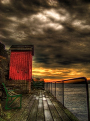 End of the dock (Johan Runegrund) Tags: red sea sky rock hill tjorn hdr stong tjrn hamn kyrkesund