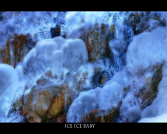 ICE ICE Baby (Eyesplash - the new slow way) Tags: winter cold ice water rock frozen icicles iceicebaby