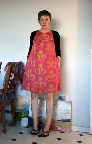 the pink print dress