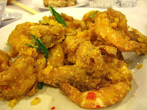 Prawns Coated With Salted Egg Yolk (RM50)