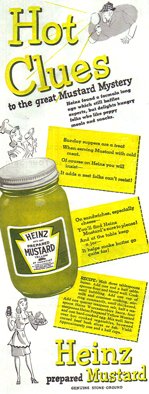 Vintage Ad #720: Hot Clues to the Great Mustard Mystery!