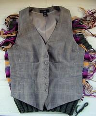 downsizing handknitted vest