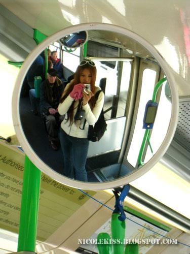 camwhore in tram