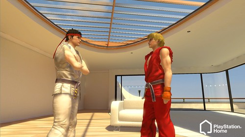 Ryu and Ken in PlayStation Home