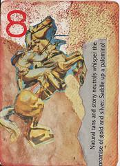 Naturally Palomino (Calsidyrose) Tags: atc collage handmade playingcard atlered