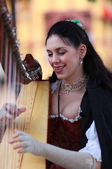 Sarah Marie Mullen harp player playing (gbrummett) Tags: arizona playing sexy girl festival marie sarah lady canon lens with mark taken using musical ii instrument l 5d f2 cleavage harp renaissance mullen 135mm