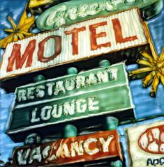 moab greenwell (t knouff) Tags: blue sky green sign utah mainstreet neon lounge motel canyonlands moab