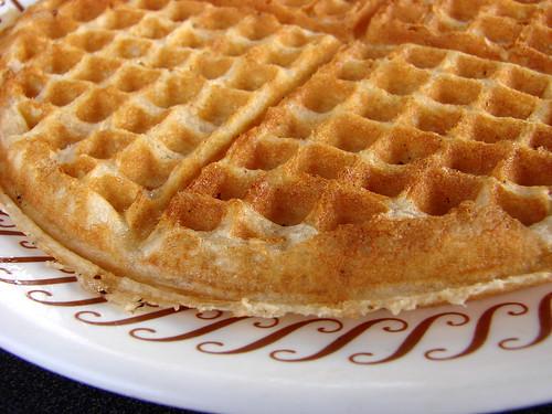 waffle house waffle close up