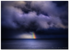 Pot of Gold? (Chantal Steyn) Tags: ocean sea storm color rain clouds rainbow nikon hdr nikfilters nikond300 goughisland