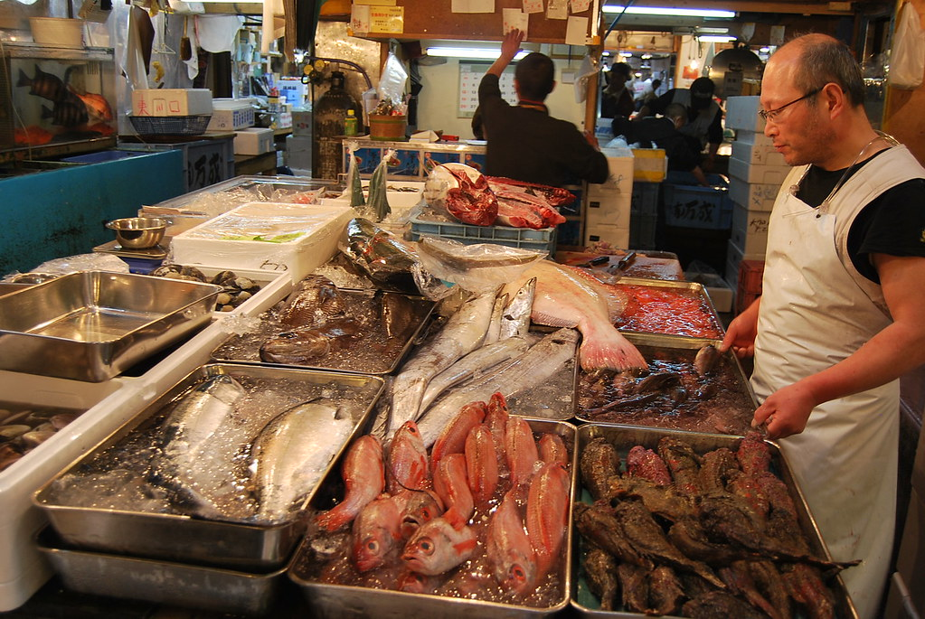 Pescado fresco en Tsukiji