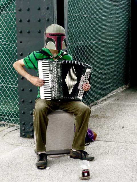 Boba Fett playing the theme from Amelie