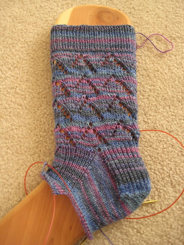 Columbine peaks sock in progress