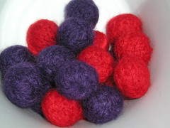 beads after felting