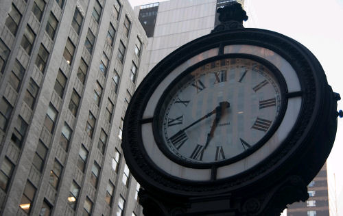 Clock on 5th Avenue