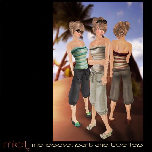 MIEL MO PROMO PIC- pocket pants and tube top
