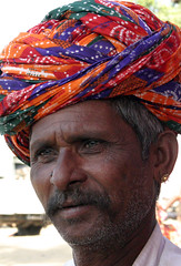 Bhopa tribesman at the Pushkar camel Fair (sensaos) Tags: old portrait people musician music india man asian person sand asia desert retrato indian traditional culture traditions fair tribal moustache clothes camel persons turban tribe ethnic pushkar portret ritratto cultural rajasthan  indigenous cultuur famke headwear mensen azi camelfair  bhopa  sensaos