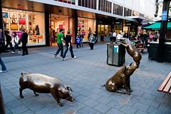 (Pablo AN) Tags: mall river balls statues australia estatuas pigs adelaide slider torrens rundle cerdos adelaida paseoadelaide