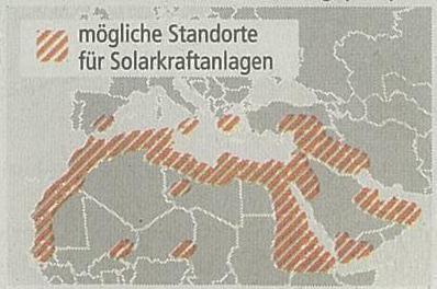 Desertec Standorte für Solarkraftanlagen