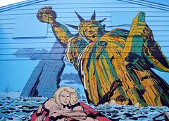 Comand-D in Dracut, MA (mryipyop) Tags: mural statueofliberty comicshop kamandi dracutma commandd