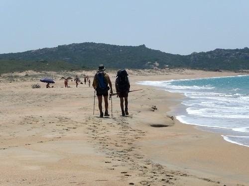 Traversée de la plage de Tralicetu (Tradicetta)