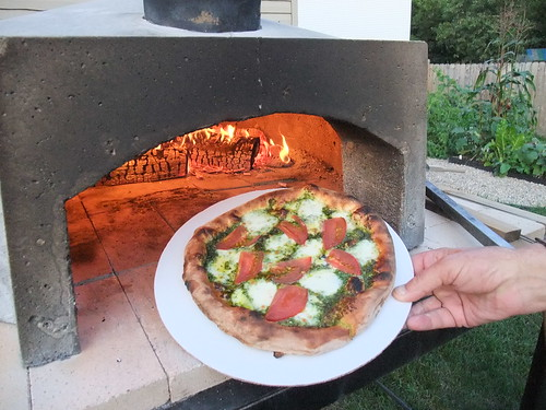 Backyard Pizza Oven and Pizza