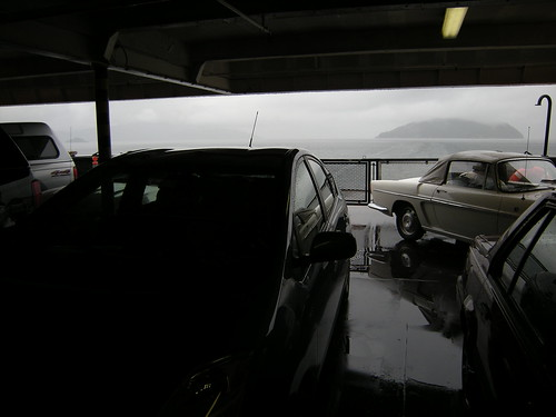 Almost last car on the ferry