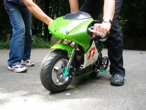 Fun with J's mini moto