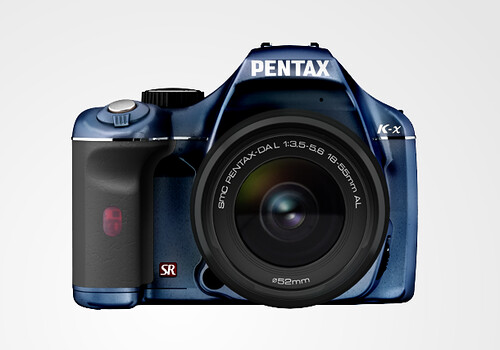 Pentax K-X color selection BlueBlackLimited