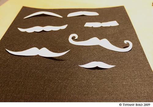 black felt mustaches