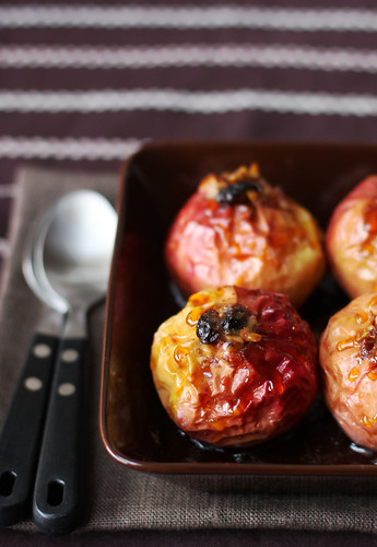 Baked Apples with Caramel Sauce