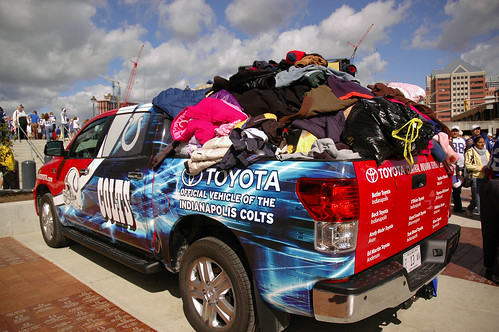 The Colts Toyota Truck was just on drop of location outside of Lucas Oil Stadium