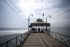 The Muelle/Pier in Huanchaco, stretches out from the Malecón.