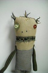 Voodoo Zombie Alain (junkerjane) Tags: art strange monster oregon portland weird doll zombie craft plush spooky odd etsy rag voodoo junkerjane