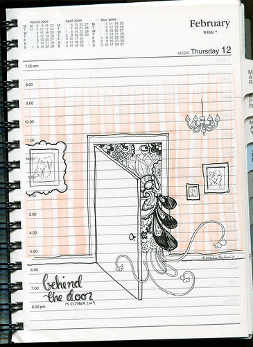 #lunchdoodle 3 -  behind the door