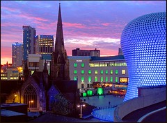 shepherds delight (george daley) Tags: birmingham dusk selfridges b5 redsky hdr bullring stmartinschurch photomatix