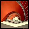 red eye (sediama (break)) Tags: red white rot stairs germany pentax hannover treppe staircase treppenhaus weis mywinners abigfave k20d flickrdiamond sediama unusualviewsperspectives ©bysediamaallrightsreserved
