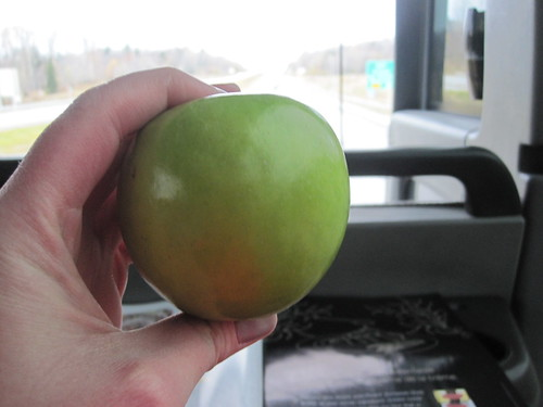 Apple from home on the bus