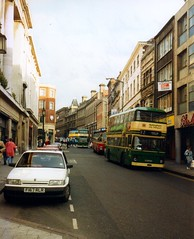 Cheapside and The Poultry, Nottingham (1993) (Brownie Bear) Tags: nottingham uk england britain united great kingdom 1993 poultry gb cheapside