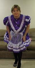 Chrisissy Sissy Maid in Purple 7 (Chrisissy) Tags: tv purple cd expose sissy maid frenchnails ts petticoats chrisissy