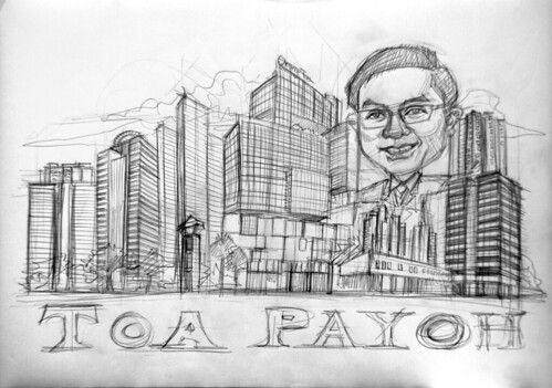 Toa Payoh property agent - pencil sketch