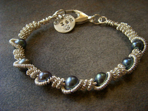 Pearly Coils Bangle