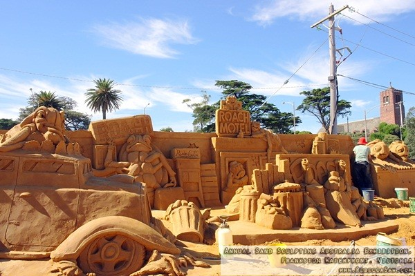 Annual Sand Sculpting Australia exhibition, Frankston waterfront-28