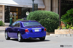 Rolls Royce Ghost RRR (Raphaël Belly Photography) Tags: blue car french real photography eos hotel al holding riviera photographie estate ghost rich group uae wrap f1 casino montecarlo monaco bin belly exotic chrome r 7d passion rolls carlo monte rrr hermitage raphael rb royce fairmont spotting gp bleue supercars rashid ajman rashed raphaël in principality chromed nuaimi humaid ressources chromee