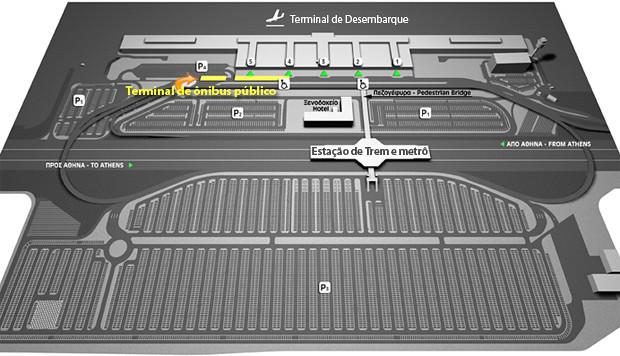 Mapa do terminal de ônibus