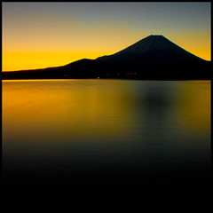 Fuji Sunrise at 50sec (TheJbot) Tags: longexposure morning mountain lake silhouette japan sunrise fuji again  breathtaking jbot motosu motosuko  elitephotography thejbot breathtakinggoldaward itsabitdifferentthoughright iknowitsanothershotoffujifromthesameplace