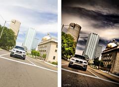 BMW X6 (Redux) - Before & After (crashmattb) Tags: photomanipulation plugin beforeafter canoneosdigitalrebelxti sigma1770mmf2845dc photoshopcs3 adobephotoshopcs3 redynamix dcetools medichance