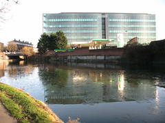 Kings Place - reflections in broken ice